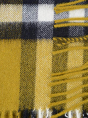 Burberry: scarves online - Check patterned cashmere scarf