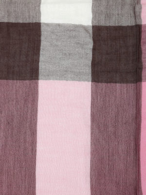 Burberry: scarves online - Check patterned scarf