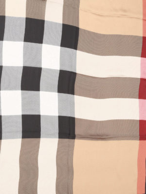 Burberry: scarves online - Check silk scarf