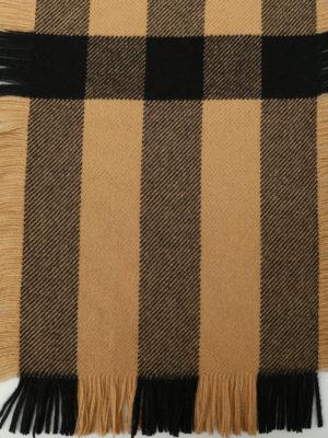 Burberry: scarves online - Fringed tartan wool scarf