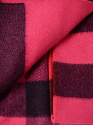 Burberry: scarves online - Fuchsia tartan cashmere Bandana
