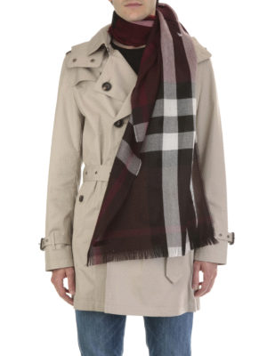 Burberry: scarves online - Giant check cashmere blend scarf
