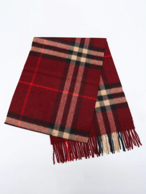 Burberry: scarves online - Giant Check cashmere scarf
