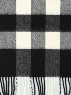 Burberry: scarves online - Half Mega Check cashmere scarf