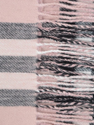 Burberry: scarves online - Lurex detailed Check cashmere scarf
