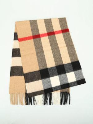 Burberry: scarves online - Mega Check cashmere scarf