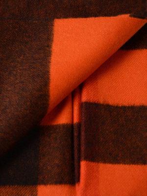 Burberry: scarves online - Orange tartan cashmere Bandana