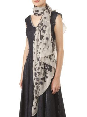 Burberry: scarves online - Printed sheer silk scarf