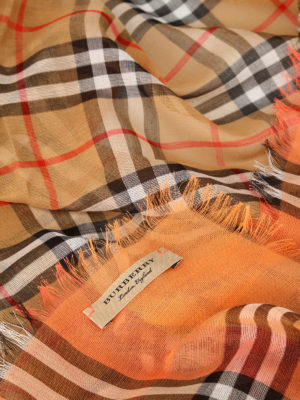 Burberry: scarves online - Vintage check cotton square scarf