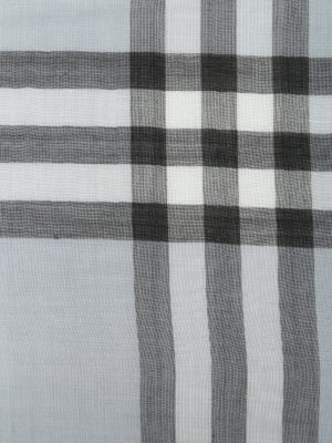 Burberry: scarves online - Wool and silk canvas scarf