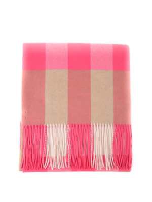 BURBERRY: sciarpe e foulard - Sciarpa in cashmere tartan oversize