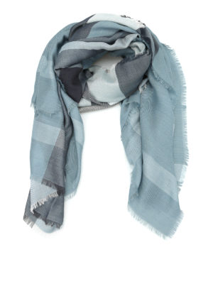 Burberry: scarves - Tartan silk blend large foulard