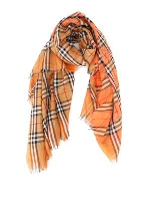 Burberry: scarves - Vintage check cotton square scarf