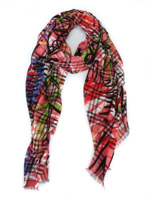 BURBERRY: sciarpe e foulard - Sciarpa Vintage Check in garza di lana seta