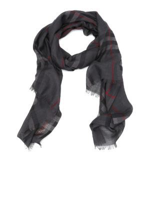 Burberry: scarves - Wool and silk canvas scarf