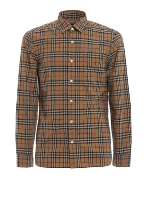 Burberry: shirts - Alexander Check cotton shirt