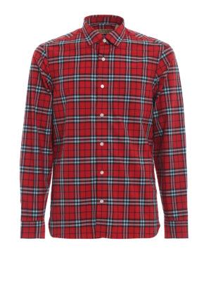BURBERRY: camicie - Camicia Alexander in cotone scozzese