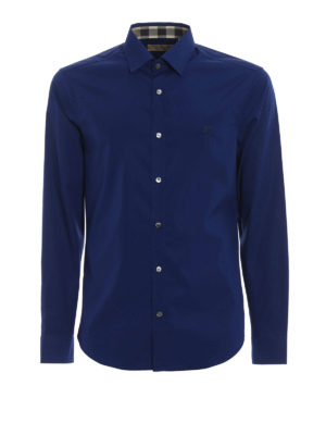 Burberry: shirts - Cambridge Check inner navy shirt