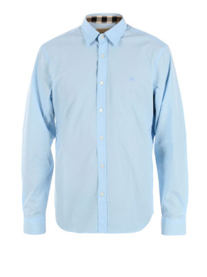 Burberry: shirts - Cambridge sky blue shirt