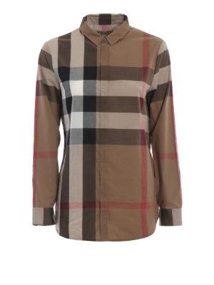 BURBERRY: camicie - Camicia in mussola di cotone check