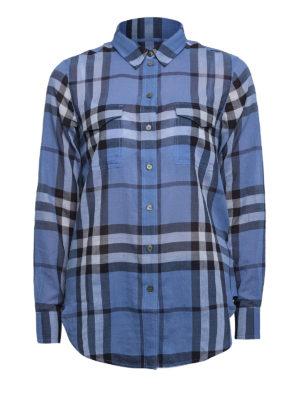 Burberry: shirts - Check cotton shirt