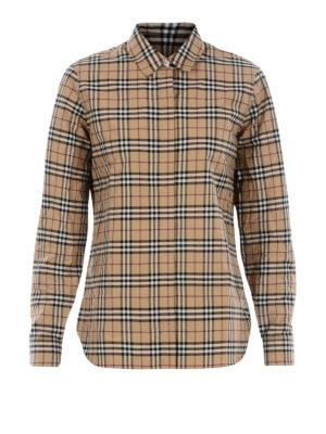BURBERRY: camicie - Camicia dritta in cotone check
