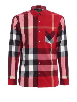 Burberry: shirts - Check printed cotton classic shirt