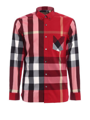 Burberry: shirts - Check printed cotton classic shirt