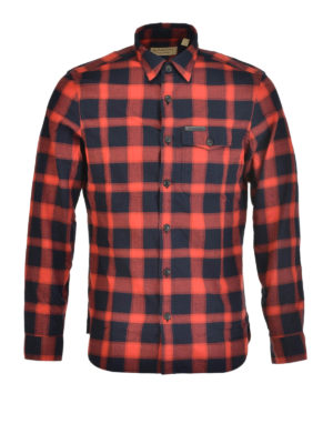 Burberry: shirts - Checkered flannel shirt