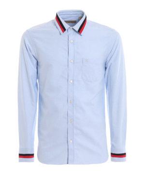 6ff89a6d9 BURBERRY  camicie - Camicia in cotone con inserti a contrasto