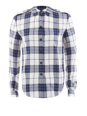 Burberry: shirts - Cotton check flannel shirt