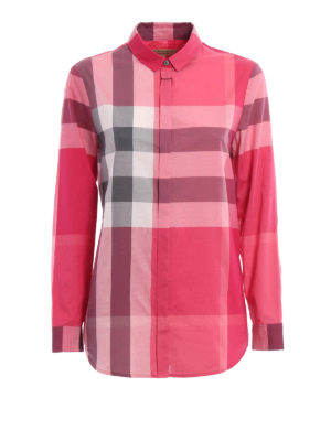 Burberry: shirts - Cotton chequered shirt