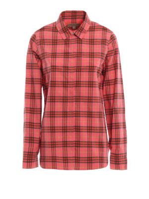 BURBERRY: camicie - Camicia Crow con stampa Check multicolore