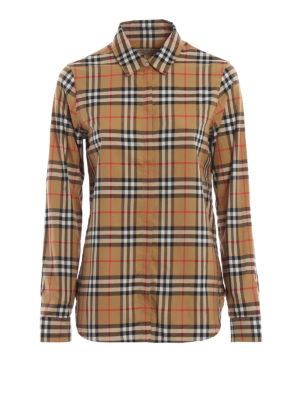 BURBERRY: camicie - Camicia Crow in cotone Vintage check