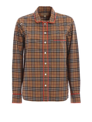 Burberry: shirts - Fluo piping long sleeve shirt