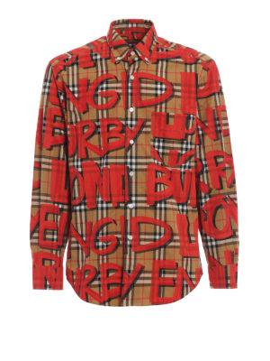 BURBERRY: camicie - Camicia Jameson stampa graffiti su quadri