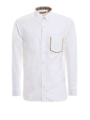 BURBERRY: camicie - Camicia Harry in cotone Oxford