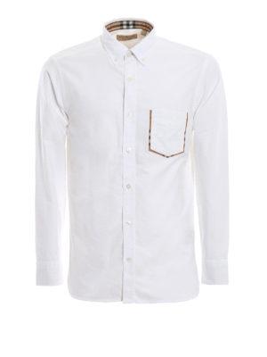 BURBERRY: camicie - Camicia Harry in cotone Oxford