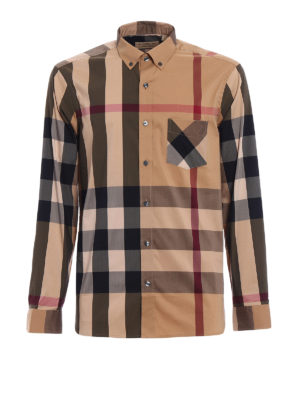 Burberry: shirts - House Check cotton blend shirt