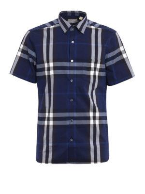 Burberry: shirts - Nelson Check pattern shirt