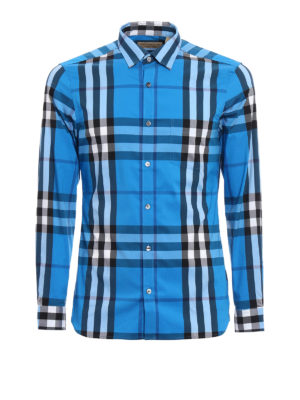 Burberry: shirts - Nelson checked shirt