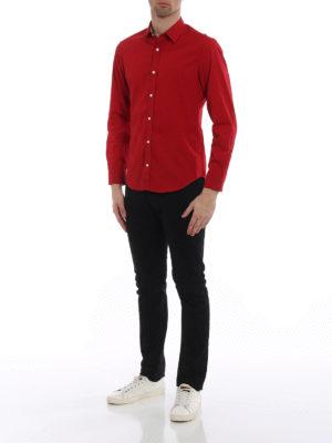 Burberry: shirts online - Cambridge Check inner red shirt