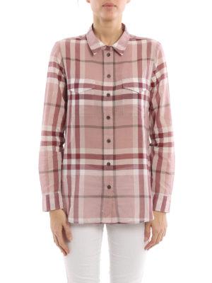 Burberry: shirts online - Check cotton gauze shirt