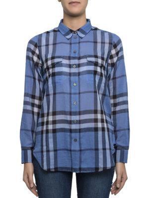 Burberry: shirts online - Check cotton shirt