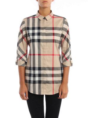 Burberry: shirts online - Check cotton slim fit shirt