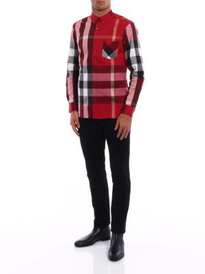 Burberry: shirts online - Check printed cotton classic shirt