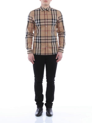 Burberry: shirts online - Checked Nelson shirt
