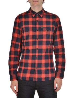 Burberry: shirts online - Checkered flannel shirt