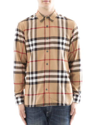 Burberry: shirts online - Chequered cotton flannel shirt