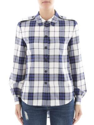 Burberry: shirts online - Cotton check flannel shirt